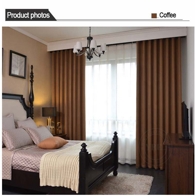 Al por mayor de 40 X 63 Brown Hotel Room cortinas para YRF